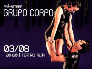 Grupo Corpo apresenta nova coreografia em pré-estreia no Teatro Alfa