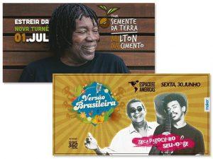 Milton Nascimento, Seu Jorge e Zeca Pagodinho em shows inéditos