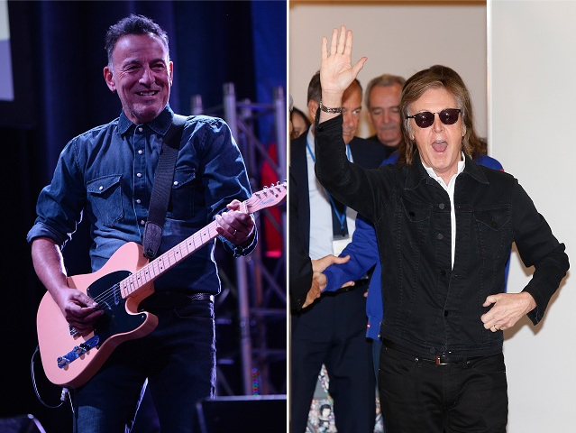 Bruce Springsteen e Paul McCartney