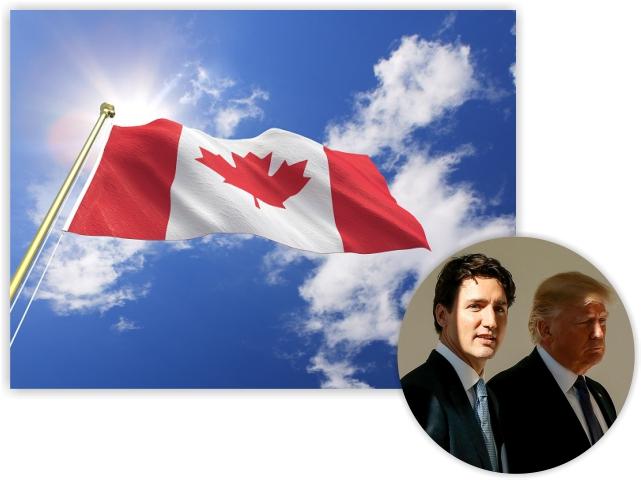 Justin Trudeau, PM do Canadá, faz sombra em Donald Trump