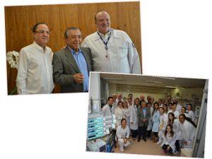Mauricio de Sousa faz visita à UTI do Instituto do Coração do Hospital das Clínicas