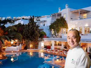 Chef Nobu Matsuhisa comanda jantares nesta semana em Mykonos