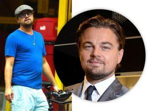 Leonardo DiCaprio é flagrado em festa falando com orgulho de sua… barriga!