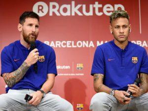 Em gala do Barcelona, Neymar rouba a cena e deixa Messi a ver navios
