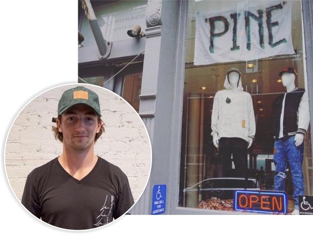 Daniel Neeson e a loja da Pine em NY
