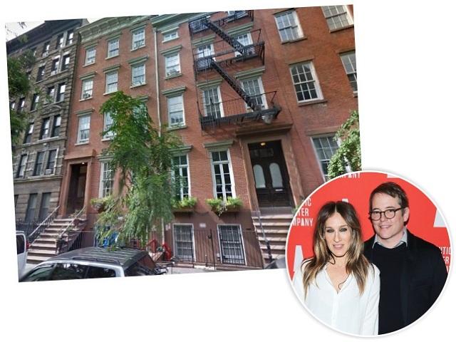 Sarah e Matthew e as townhouses do casal em NY