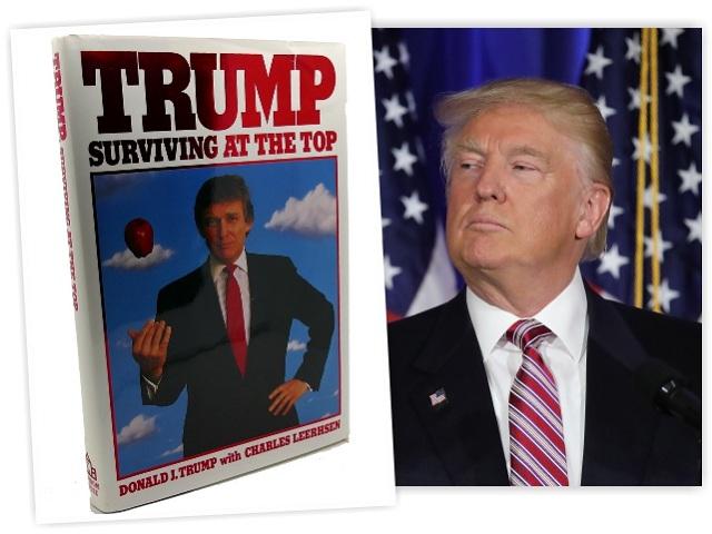 Trump e o livro lançado em 1990