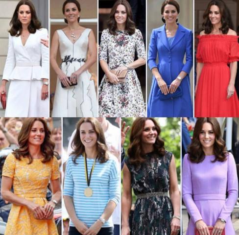 Os nove looks usados por Kate Middleton durante seu tour na Polônia
