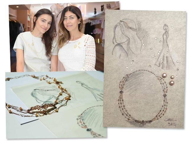 A estilista e a joalheira e a peça criada em parceria