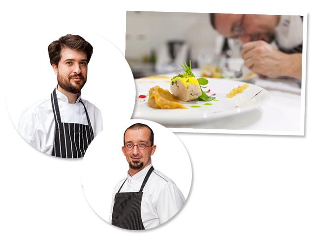 Os chefs Gabriel Matteuzzi e Guilherme Vinha do Restaurante Tête à Tête