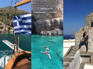 Glamurettes ao mar! Turma boa curte o verão europeu na Grécia