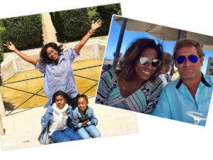 Gloria Maria curte férias em Lisboa ao lado das filhas e de amigo português
