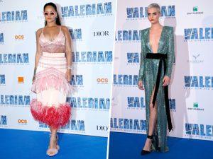 Em tapete vermelho, Cara Delevingne e Rihanna usam brilho à sua maneira!