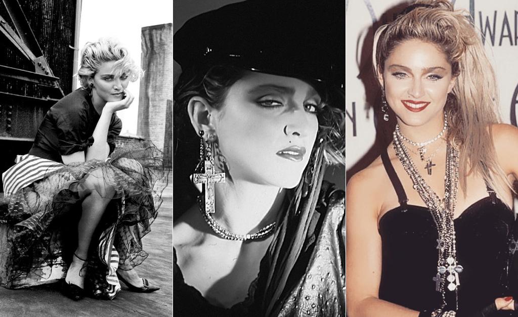 789bc686b2 Da esquerda à direita: Madonna por Richard Corman em 1983, por Georges  Holtz em 1984 e no American Music Awards em 1985 || Créditos: Reprodução  Instagram