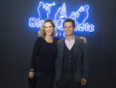 Guilhermina Guinle e Gloria Maria em inauguração do Blue Note Rio: aos cliques