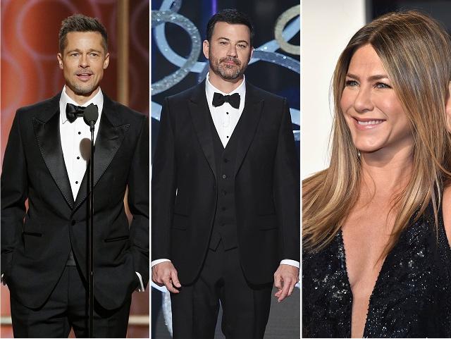 Brad Pitt, Jimmy Kimmel e Jennifer Aniston