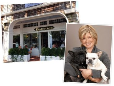 Martha Stewart e seus pets, habitués do Babette, em NY