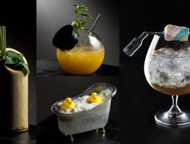 Seleção de drinks inusitados em suas formas ou receitas para um brinde diferentão