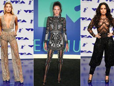 Com Demi Lovato, Alessandra Ambrosio e Hailey Baldwin, calças e macacões roubam a cena no VMA