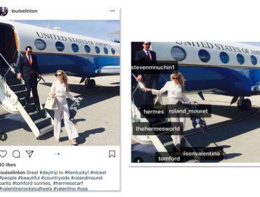 Mulher de Secretário do Tesouro dos EUA posta look do dia em viagem oficial