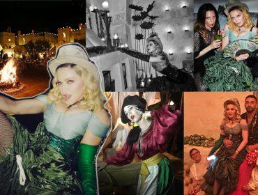 Madonna arma mais uma festa de aniversário na Puglia com altar e velas