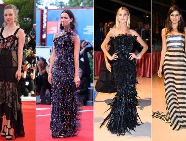 Tendência: texturas são destaque nos red carpets do Festival de Cinema de Veneza
