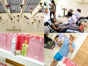 Projeto Verão Glamurama contou com momento relax total com óleos essenciais de Francis