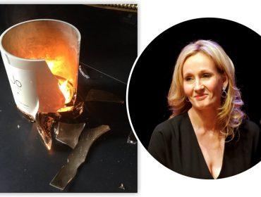 Vela explode enquanto J.K. Rowling escrevia cena macabra… Que loucura é essa?