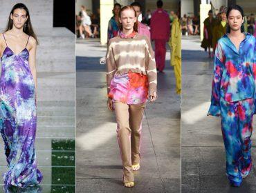 Tie-dye em versão effortless-chic é aposta para o verão na Semana de Moda de Milão