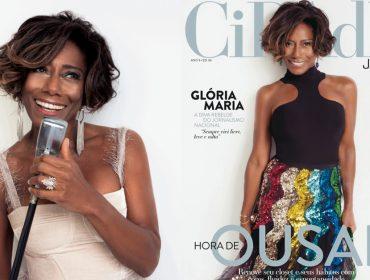 """Tá óóótima! Glória Maria é capa da nova edição da revista """"Cidade Jardim"""""""