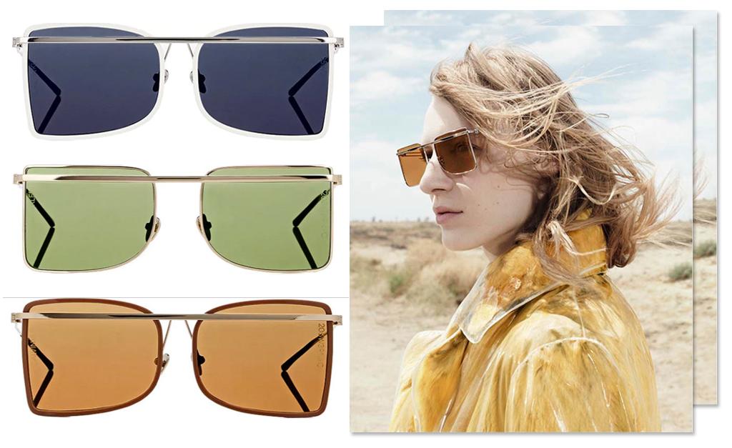9be67f62eee99 Para passear por aí trabalhada na sofisticação neste sábado ensolarado, a  melhor pedida é o par de óculos de sol CK 8578S, destaque da coleção  205W39NYC da ...