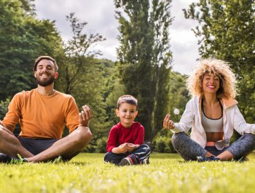 Vivo leva sessões de meditação guiada especialmente para crianças ao nosso piquenique