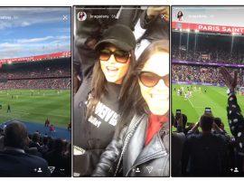 Novo affair de Neymar assiste vitória do Paris Saint-Germain de camarote a convite do craque