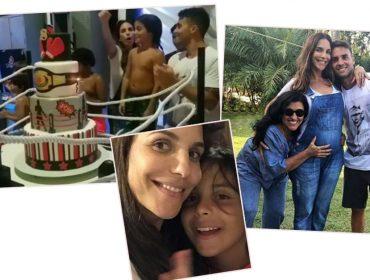 """Filho de Ivete, Marcelo ganha festão de aniversário com tema """"Rocky Balboa"""""""