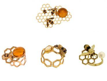 Desejo do Dia: irreverência luxuosa com as joias de abelhas de Delfina Deletttrez