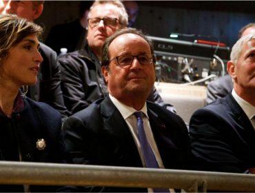 Longe do poder, François Hollande faz rara aparição com a namorada e ex-amante