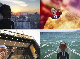 Da feira à Trump Tower, boneco de Barack Obama segue rodando o mundo pelo Instagram