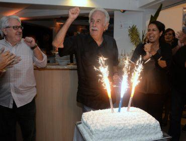 A festa de aniversário do artista plástico Carlos Vergara no Clube dos Marimbás no Rio