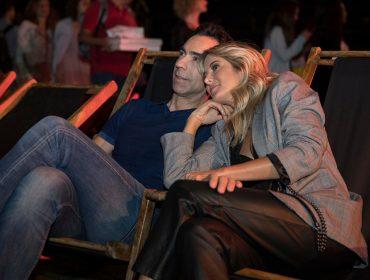 César Tralli e Ticiane Pinheiro se jogaram na Sexta Musical no Shell Open Air