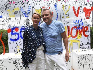 O artista e designer francês Jean-Charles Castelbajac agitou o shopping Cidade Jardim com performance exclusiva