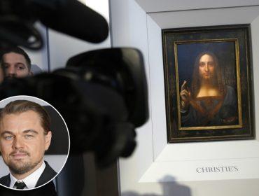DiCaprio, que vai viver Da Vinci no cinema, foi conferir quadro do artista que vai a leilão