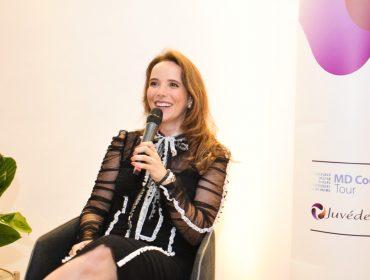 A dermatologista Ligia Colucci comandou bate-papo sobre novas técnicas de rejuvenescimento na Casa Glamurama