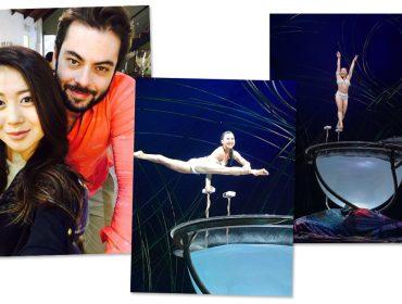 Tem tesoura de certo hairstylist brasileiro o visual de uma das bailarinas do Cirque du Soleil. Aos detalhes!