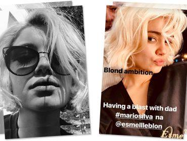 Blond ambition! Sophie Charlotte adere ao tom platinado para nova série da Globo