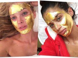 Máscara de folhas de ouro é segredo das famosas para uma pele perfeita… Vem ver