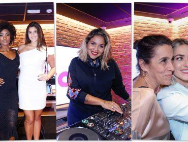 Monique Alfradique, Erika Januza e mais em opening de nova loja da Vivo no Rio