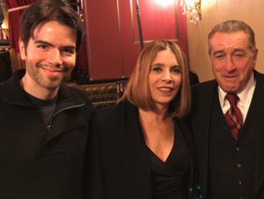 Liège Monteiro foi dar um olá ao amigo Robert De Niro e Glamurama tem o clique
