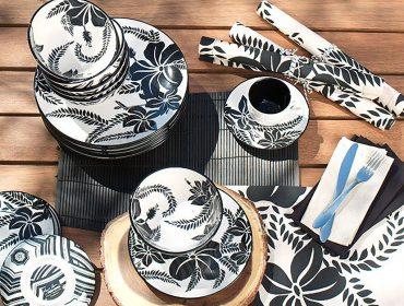 Lá em Casa: as louças com mood tropical de Amir Slama para Tok&Stok