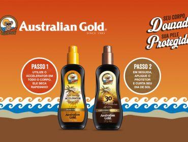 Bronzear com proteção é missão da Australian Gold neste verão. Ativar!