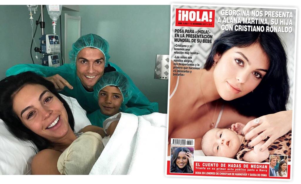 Georgina Rodríguez mostra o rosto de Alana Martina